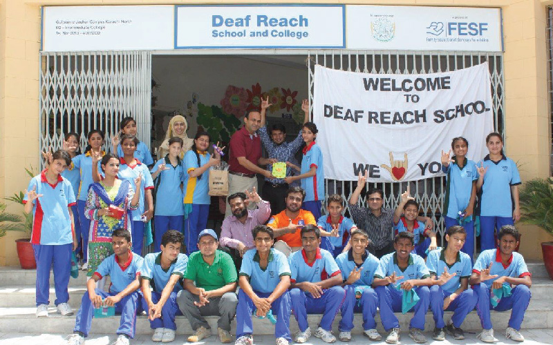 Engro Powergen visits Deaf Reach